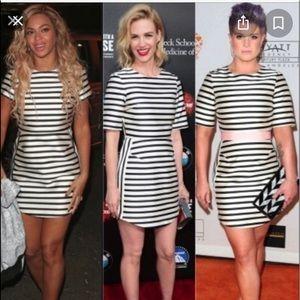 Topshop satin stripe dress. Size US2/UK6